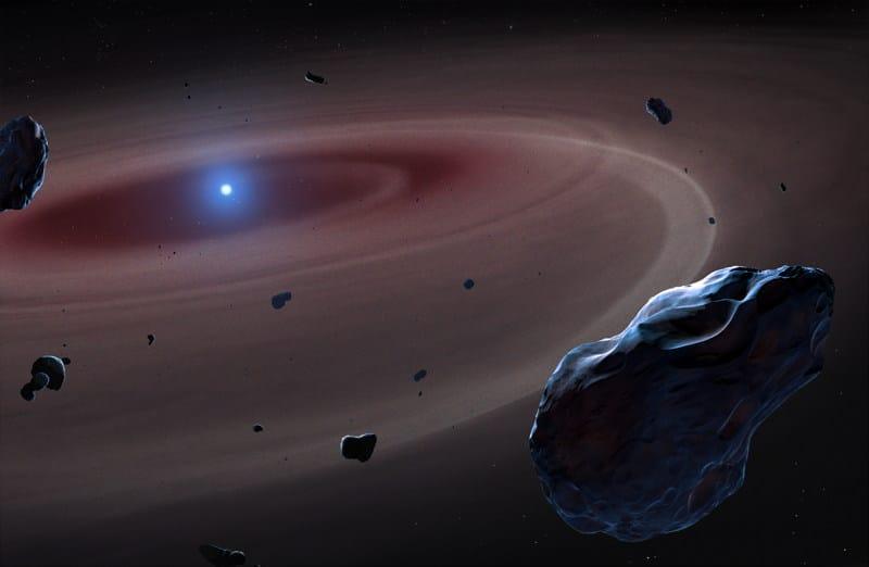 Dust left swirling around a white dwarf