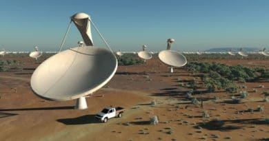 How the main dishes of the SKA telescope will look. Credit: SKA Organisation/Swinburne Astronomy Productions