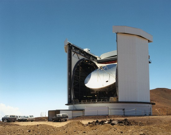 The JCMT open for business on Mauna Kea. Credit: Joint Astronomy Centre Hawaii