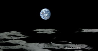 The Moon's south polar region pictured from Japan's Kaguya probe
