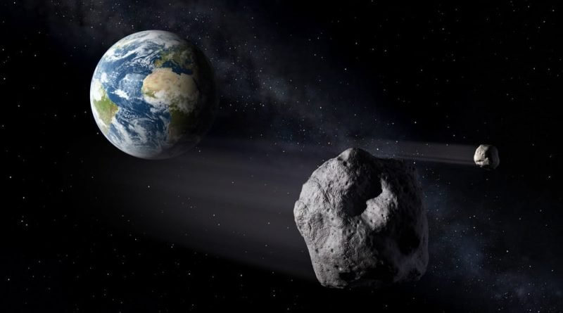 Artist's impression of an NEO headed for Earth