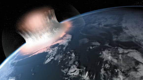 An impression of a major asteroid impact on Earth