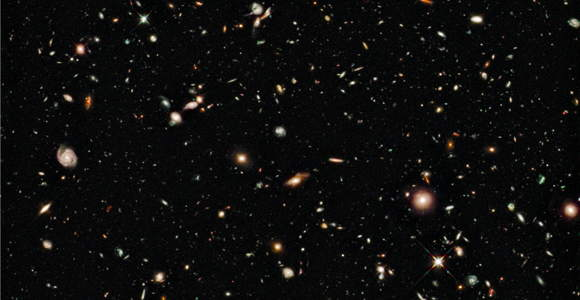 A tiny patch of sky reveals countless galaxies in the Hubble Ultra Deep Field, Credit: NASA/ESA