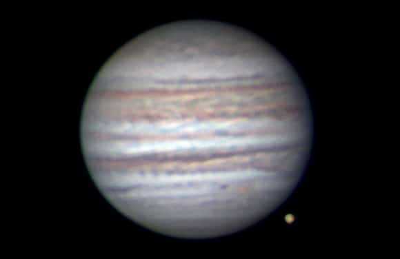 An image of Jupiter taken by Anthony Wesley on July 8.