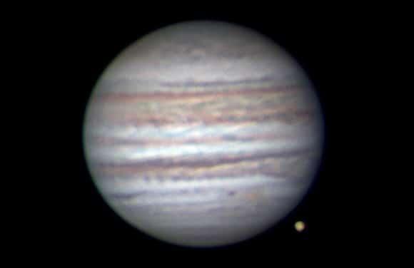 An image of Jupiter taken by Anthony Wesley on July 8.