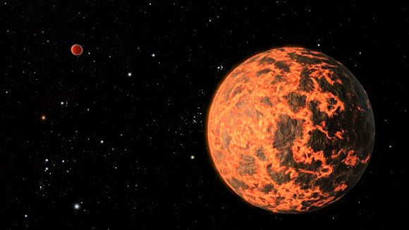 How the extremely hot new planet might look. Credit: University of Central Florida