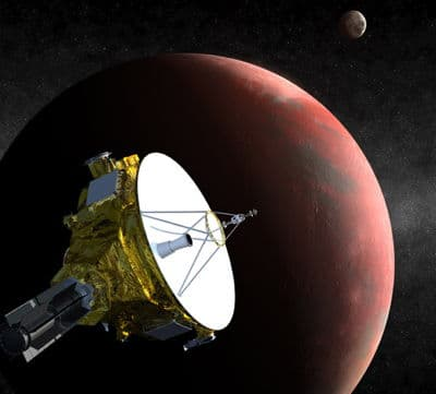 An artist's impression of New Horizons passing Pluto