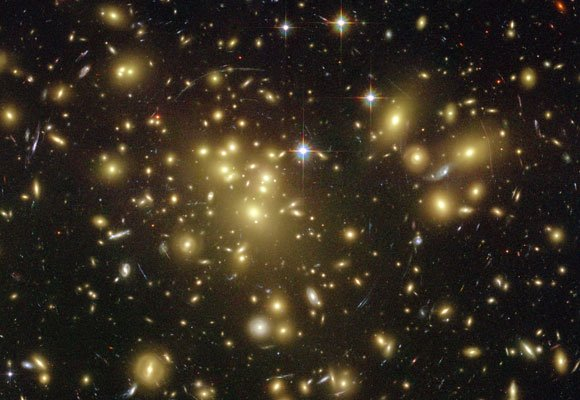 An image of the Virgo Cluster of galaxies by the Hubble Space Telescope