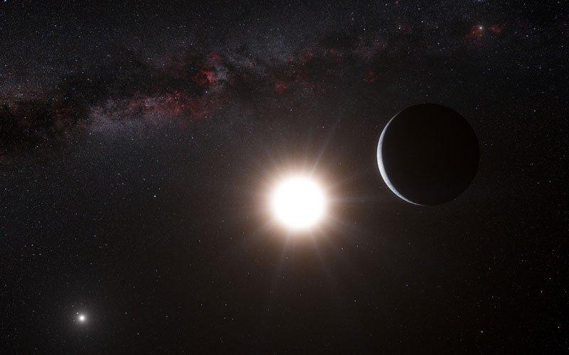 An artist's impression of the new planet orbiting Alpha Centauri B. Credit: ESO/L. Calçada