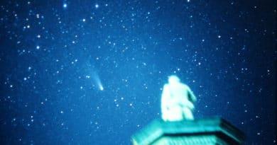 Halley's Comet over Wellington in 1986