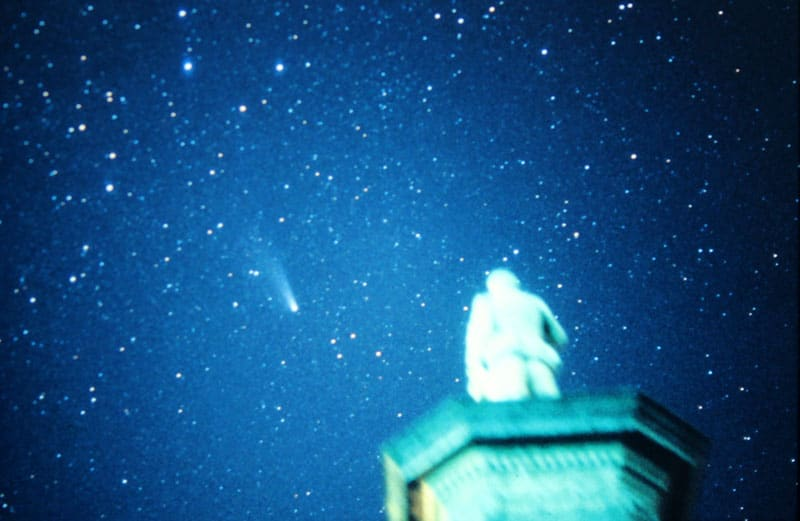Halley's Comet over Wellington in 1986