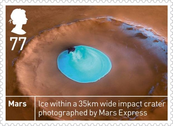Space stamps: Mars stamp