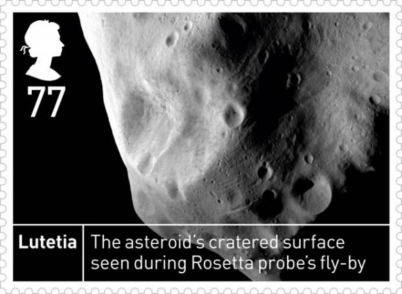 Space stamps: Lutetia stamp