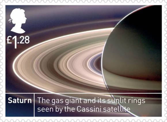 Space stamps: Saturn stamp