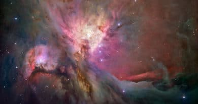 Orion Nebula imaged with the Hubble Space Telescope