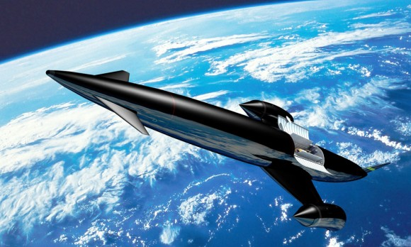 Artist's impression of Skylon in orbit