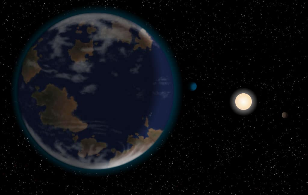 An artist's impression of super-Earth HD40307g