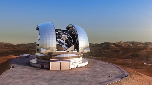 How the European Extremely Large Telescope will look. Credit: ESO