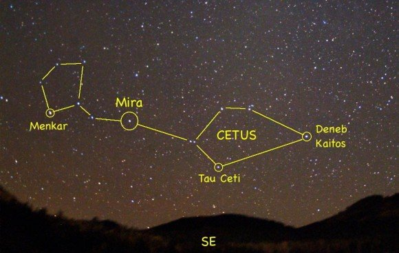 Where to find Tau Ceti in the sky tonight