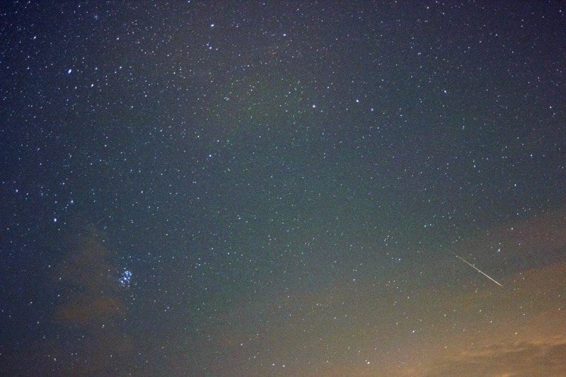 A bright Perseid meteor