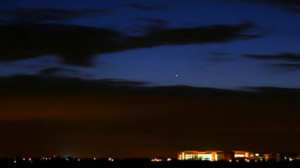 Mercury on a previous appearance in the evening sky, from Sandwich, Kent. Image credit: Paul Sutherland