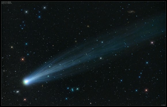 Comet ISON imaged by renowned UK amateur astronomer Damian Peach.