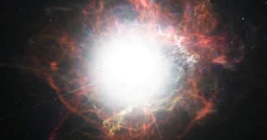 A supernova blast
