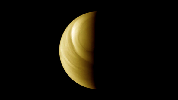 A view of Venus taken by the Venus Monitoring Camera aboard ESA's Venus Express spacecraft. Image credit: ESA/MPS/DLR/IDA, M. Pérez-Ayúcar & C. Wilson