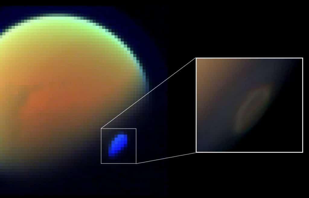 Titan's southern polar vortex