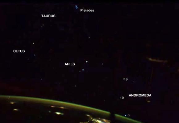 Andromeda and the Pleiades