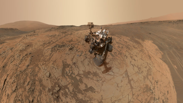 Curiosity's new selfie, assembled from dozens of separate images taken by the rover in January. Image credit: NASA/JPL-Caltech/MSSS