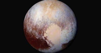 Pluto in false colour