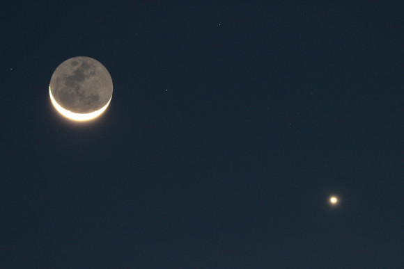 Moon and Venus