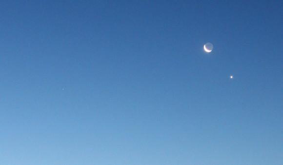 Mars, Moon and Venus