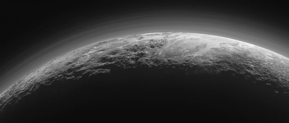 Wide-angle view of Pluto