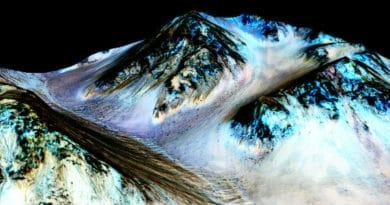 Streaks left by water on Mars