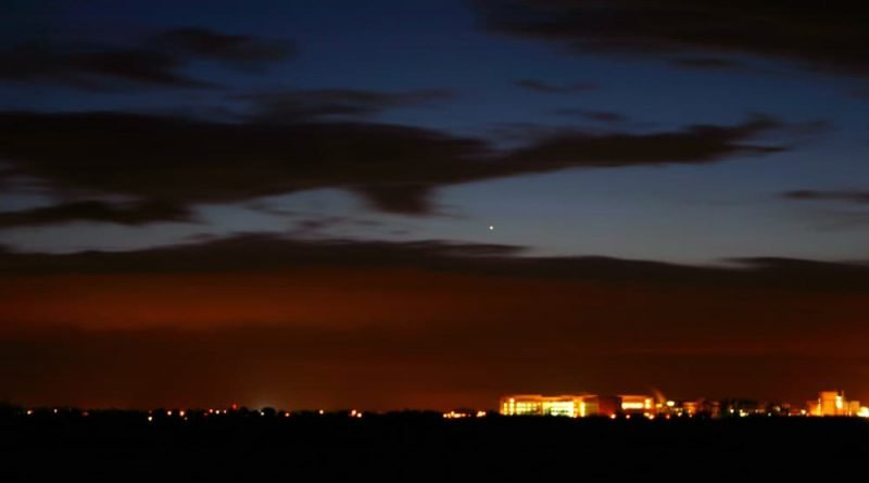 Mercury in evening sky