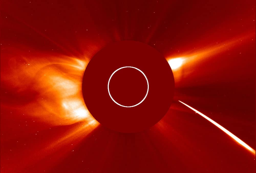 Sun and comet