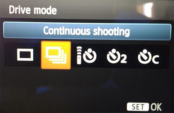 Canon shooting mode