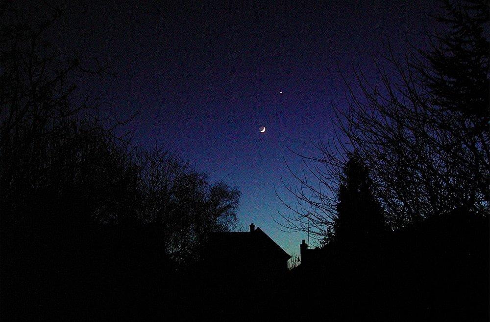 Venus close to Moon