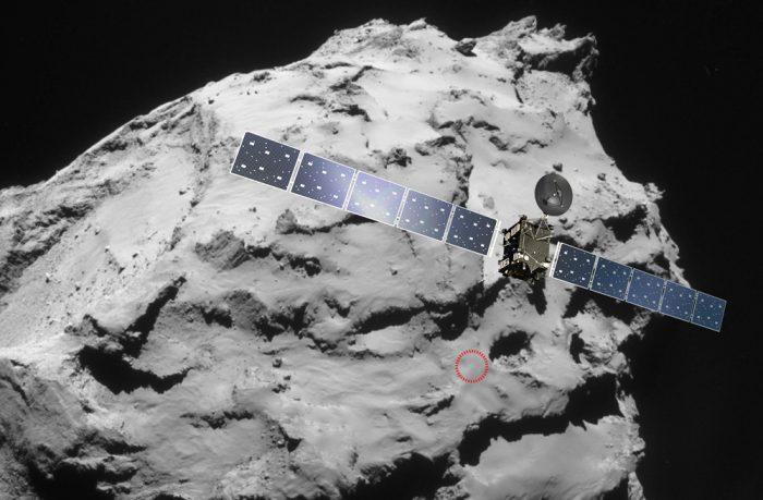 Rosetta's descent