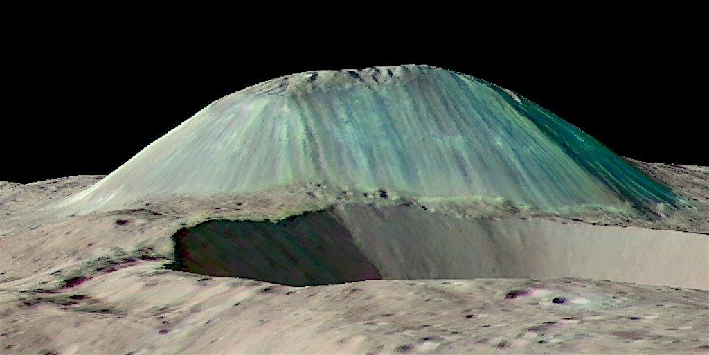 Ice volcano on Ceres