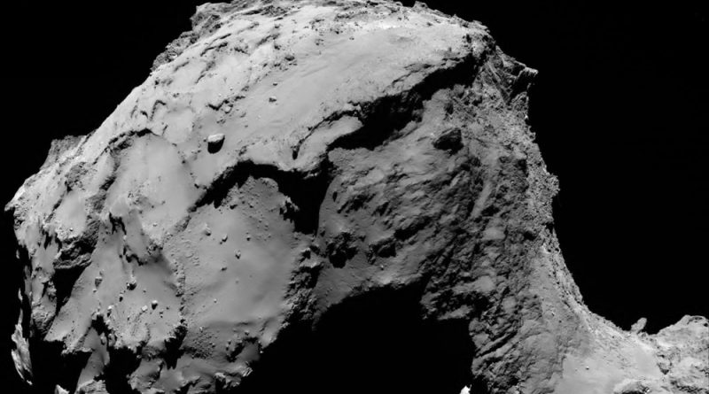 Comet during Rosetta's final descent