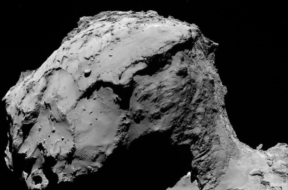 Comet during Rosetta's final descent