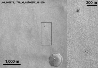 NASA orbiter captures Schiaparelli's high-speed impact