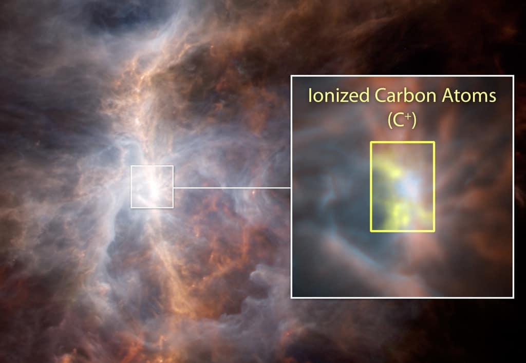 Orion Nebula schematic