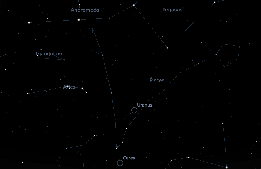 Where to find Uranus in the night sky