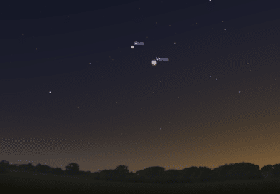 Venus and Mars get close in the evening sky