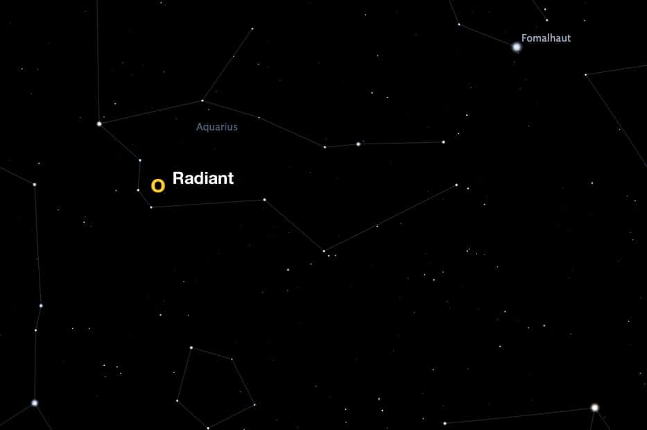radiant of the Eta Aquarid meteor shower
