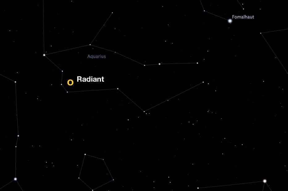 radiant of the Eta Aquarid meteor shower